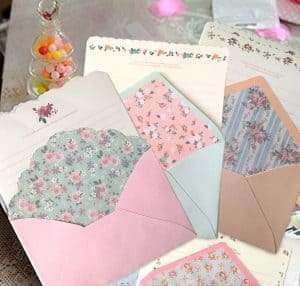 Cute Kawaii floral printed Stationary
