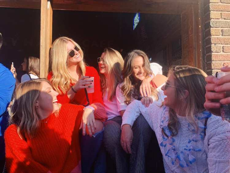 Friends Gather At The Hawk