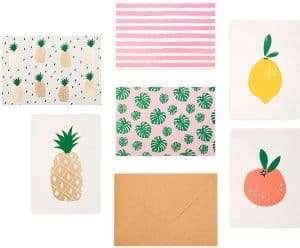 fruit printed stationary