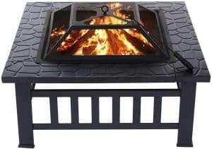 kingso fire put bbq grill square