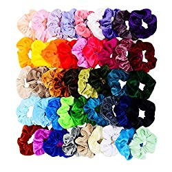 45 Assorted Colors Scrunchies