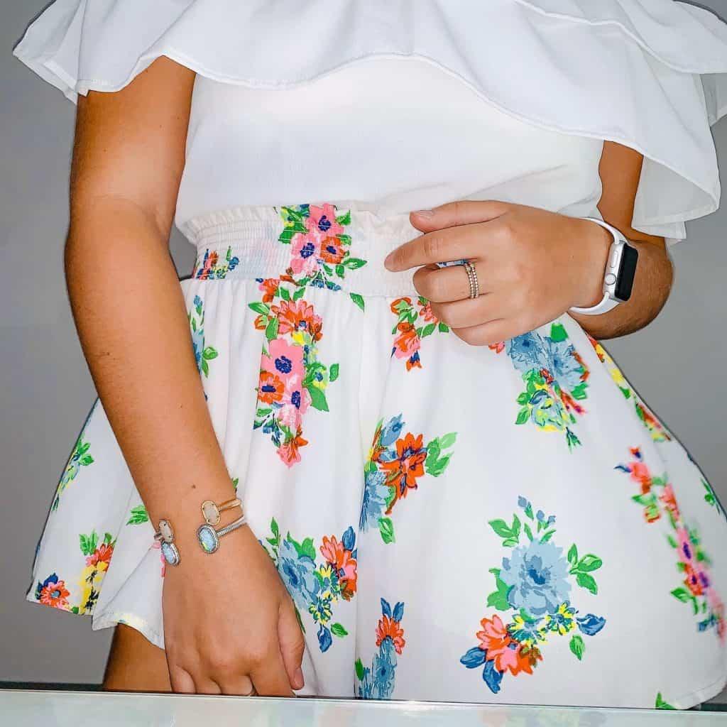 Jenna Haith floral printed shorts