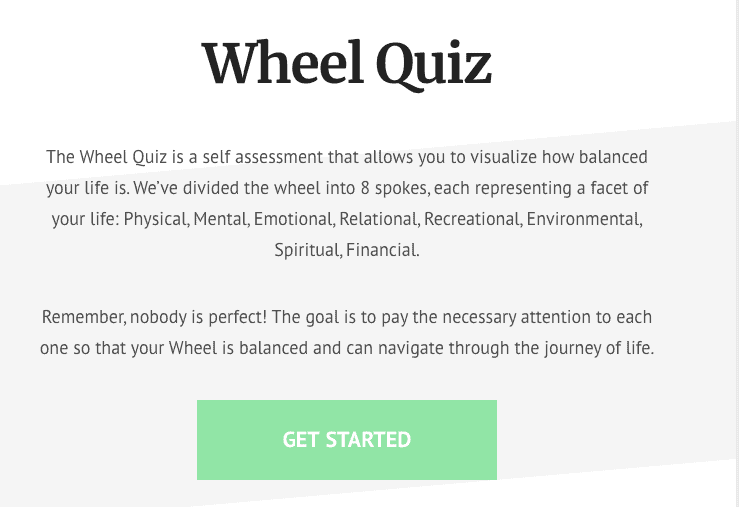 Wheel of Wellbeing Quiz
