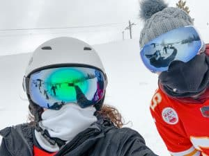 neck gaiter face shield for skiing