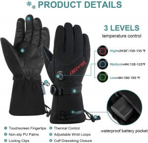 thermal heating touch pad water proof gloves