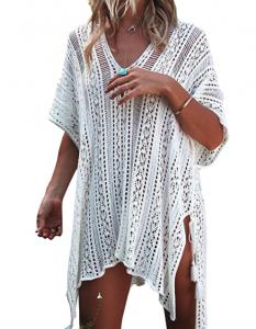 crochet swimsuit sleeve cover up net