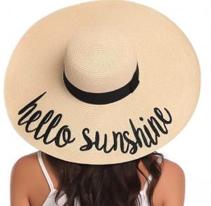 hello sunshine floppy beach hat